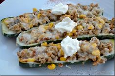 Mexican Zucchini Boats | Food and Fitness 4 Real