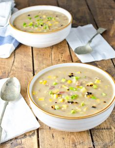 Grilled Corn and Bacon Chowder