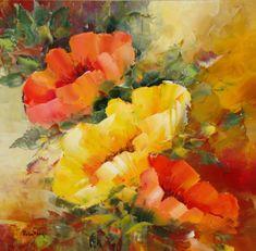 """Iată și """"frățiorul"""" celui cu alb: """"Doar unul galben""""! :) Painting, Painting Art, Paintings, Painted Canvas, Drawings"""
