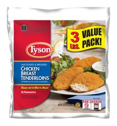 Tyson breaded chicken tenderloins recipes