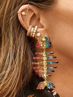 Sombra Inspired Round Resin Earrings