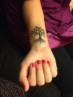 Small Tree Tattoo for Girls