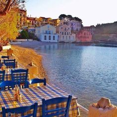 Our favourite Seaside Cafe, Assos, Kefalonia, Ionian Islands, Greece - just sit here and relax!