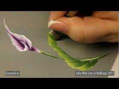 One Stroke Painting. Decorating your phone. Tatiana Kudryavtseva - YouTube