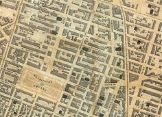 The Streets of New York  Detail, the 15th and 17th wards, AKA Greenwich Village, ca.1852