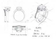 Vintage diamond ring (sketch)
