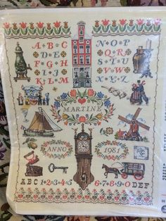 Vintage PAKO Handweken Crafts from Holland - Cross Stitch KIT - Wall Hanging:  Sampler  - 55  x 70 cm - Gorgeous - Unused\Unworked by LousAtelier on Etsy