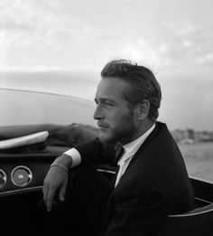 Paul Newman. I haven't seen this particular photo before (from a Tumblr post) and I couldn't pass him up. One of those men who was beautiful when he was younger and looked amazing until he died.