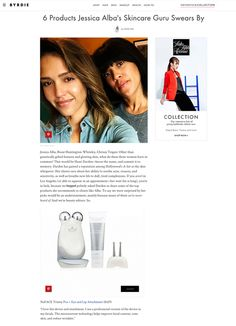 "6 Products Jessica Alba's Skincare Guru Swears By -- ""I love this device and attachment. I use a professional version of the device in my facials. The microcurrent technology helps improve facial contour, tone skin, and reduce wrinkles."" Shani Darden, Celebrity Esthetician #NuFACE"