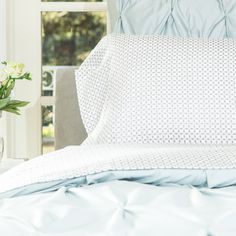 The Ellis Grey Comforter | Grey and White Printed Comforter Set | Crane & Canopy