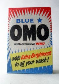 Just In - HTF Vintage Blue Star Omo Washing Powder Lever Brothers Unopened 7 Small Size