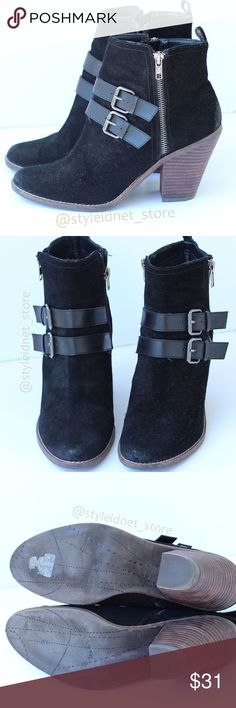 DV By Dolce Vita Black Suede Booties (8.5) ❤️ BUNDLES  ❤️ DISCOUNTS  ❌ NO TRADES  ❌ NO Low balling!   • Condition: Very Good (please see Pictures) • Have lots of life left to them • Aged Suede • Double front buckle • Inside and outside zipper  - SIZE: 8.5 DV by Dolce Vita Shoes Ankle Boots & Booties