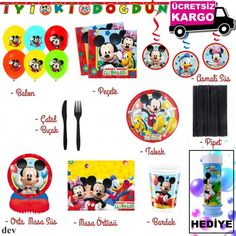 Mickey Mouse Temalı Doğum Günü Dev Parti Seti (Kargo Bedava + 5 adet Mickey Mouse Köpük Hediye !)  Dizayn ekipimimiz tarafından özenle seçilmiş parti malzemelerinden hazırlanan dev paket ile doğum günü hazırlıklarınızda kolayca eksiksizce tamamlayabilirsiniz.  Aşağıdaki listeden partinize uyun paket seçeneklerini belirleyebilirsiniz.