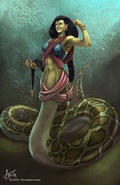 Indian Lamia by ArtGutierrez.deviantart.com on @DeviantArt