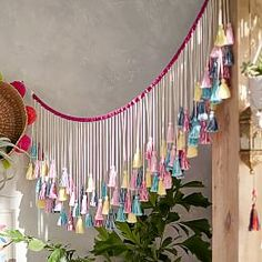 Lennon & Maisy Tassels Wall Decor (from PBteen)Teenage Girl Rooms Terrific concept to organize a appealing diy teen girl bedrooms pink Bedroom decor tips posted on this day & Maisy Use Your Imagination Pinboard Singers, actresses, auth Home Crafts, Diy And Crafts, Pb Teen, Teen Fun, Deco Boheme, Diy Home Decor Bedroom, Bedroom Ideas, Tassel Garland, Rag Garland