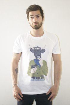 T Shirt détournement Kurt Cobain en Kurt Cowbain par La French Clothing