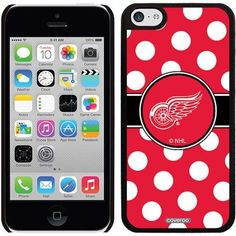 Detroit Red Wings Polka Dots Design on iPhone 5c Thinshield Snap-On Case by Coveroo