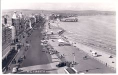 Weymouth Real Photo PC Weymouth Esplanade and Pier Bandstand C1950s