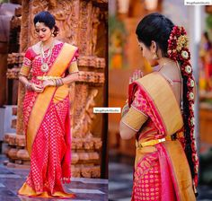 I must say the perfect Bridal Saree!! Any Girl Would Dream for a look and a feel like this!! Won t you agree?? Saree which is back on customers demand...  Product Code: VD_40 For orders/Enquiries -  Contact Details:040-65550855/9949047889 Watsapp:8142029190/9010906544 15 July 2016