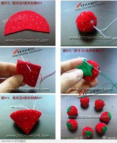 stoffen aardbei aardbeitjes maken