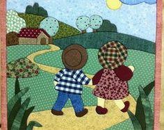 Primeros de la tabla Wool Applique, Applique Patterns, Applique Quilts, Applique Designs, Quilt Patterns, Sunbonnet Sue, House Quilts, Baby Quilts, Hobbies And Crafts