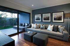 Bermuda 23 Rumpus - Manhattan World of Style Living Room Color Schemes, Living Room Designs, Living Room Decor, Living Rooms, Gray Interior, Interior Design, Brown And Blue Living Room, Blue Rooms, Room Colors