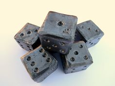 """1 1/4"""" BLACKSMITH FORGED DIE by Naz , For Him , Gifts for Groomsmen on Etsy, $17.50"""