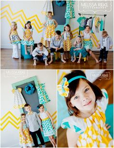 Great color scheme! ♡ Child Photography | Fashion | Clothing Inspiration | What To Wear For A Photo Session | Pose Idea | Prop Ideas | Colorful | Family | Siblings | Cousins | Children | Kids