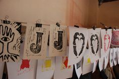 Linogravure workshop. Photo by Tornadouro.