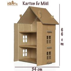 Barbie bebek evi- Karton Ev (Midi)