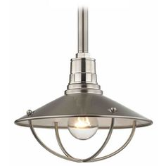 Apex RLM 10-Inch Satin Nickel Pendant Light with Cage