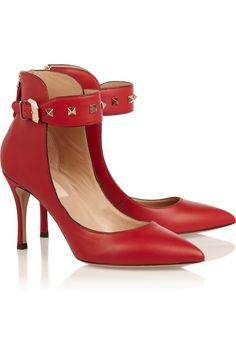 Every woman should have one pair of red shoes.  They can do amazing things for one's self-image and these simple yet uber-stylish rock-stud Valentino's are just the ticket.  Dress them up or dress them down.  You won't be sorry.