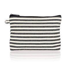 Mini Zipper Pouch - Twill Stripe