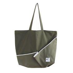 トートバッグ「flag bag / fold」(カーキ)