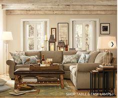 images of pottery barn living room | pottery barn living room | Favorite Places & Spaces
