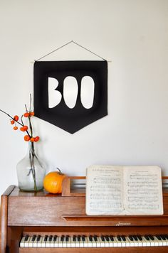 boo banner diy for halloween