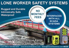 Lone Worker Half Page Ad. Many designs were created, only a handful of these will be used in various industrial safety magazines for 2015.