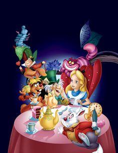 Walt Disney Alice and wonderland Walt Disney, Disney Love, Disney Magic, Disney Art, Disney Pixar, Alicia Wonderland, Wonderland Party, Alice In Wonderland Pictures, Alice In Wonderland Characters