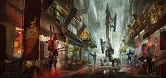 Cyberpunk. Market Patrol by dsorokin755.deviantart.com on @DeviantArt