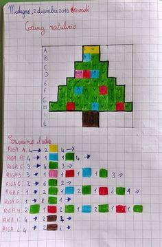 Immagine correlata Coding For Kids, Math For Kids, Kids Math Worksheets, Math Activities, Steam Activities, Stem Classes, Graph Paper Art, Math Art, Theme Noel