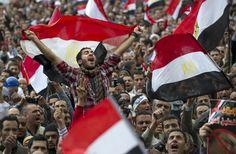 Tahrir Square, Cairo Egypt - Arab Spring 2011 - The overthrow of Mubarak.