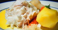 Gratinerad havskatt med persiljefrästa rotfrukter och hollandaise