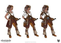 ArtStation - Aloy costumes concept art, Joseph Noel
