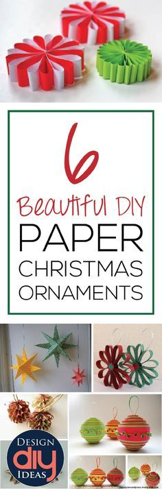 Cheap easy tree ornaments?  Make them out of paper, with these beautiful tutorials.