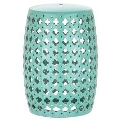 Lacie Garden Stool in Light Blue