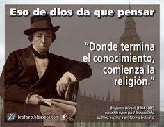 donde termina el comienza la religin benjamn disraeli