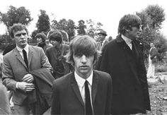 Neil Aspinall and The Beatles, 11 July 1964, Teddington.