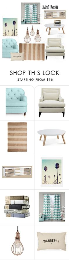 """""""Dream Living Space #1"""" by ashleydannie ❤ liked on Polyvore featuring interior, interiors, interior design, home, home decor, interior decorating, Kate Spade, Jeffan, Lala + Bash and NuCasa"""