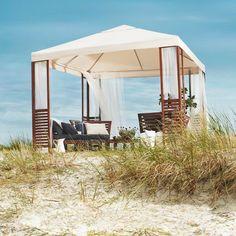 IKEA outdoor catalog for summer: parasols and gazebos Ikea Outdoor, Outdoor Spaces, Outdoor Furniture, Outdoor Decor, Plein Air Ikea, Gazebo Tent, Garden Parasols, Ikea Decor, Deck Design