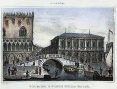 Venezia, prigioni a Ponte della Pagia (National Library of Poland - 1847, lithography)